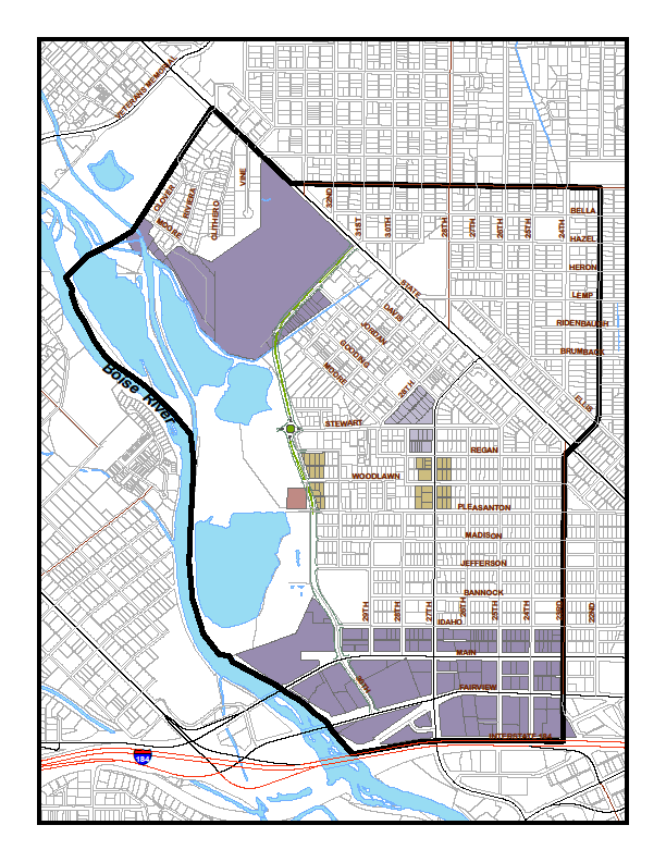 A D B A. ITD Subdistrict Urban, mixed use, pedestrian- and transitriented activity center Highest density in cre; lwest density at edges shared with adjacent neighbrhd.