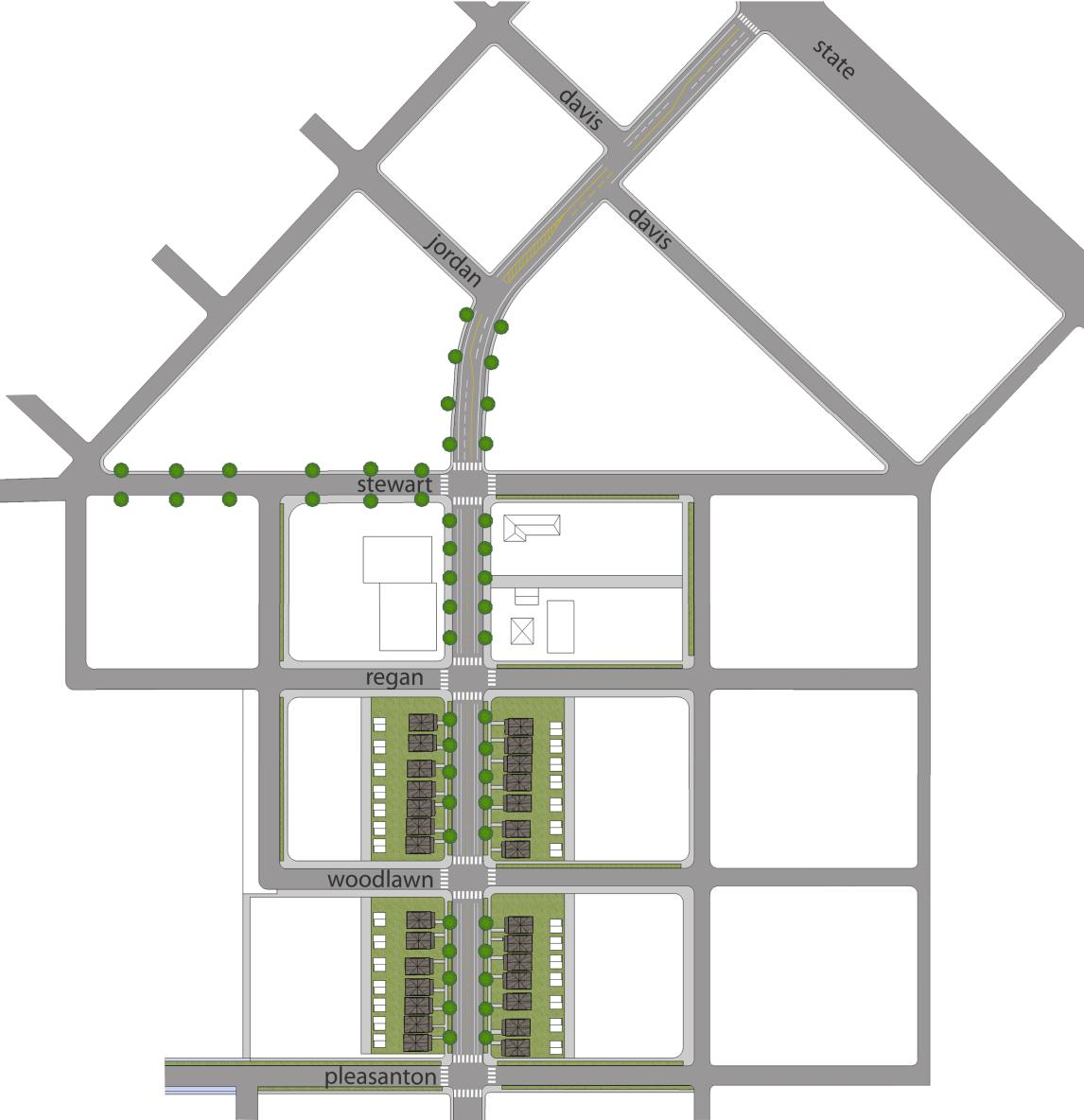 - Plan Views Figure 40 shws a plan view f the City f Bise s preferred design fr the streets in the 27th Street Neighbrhd Center.