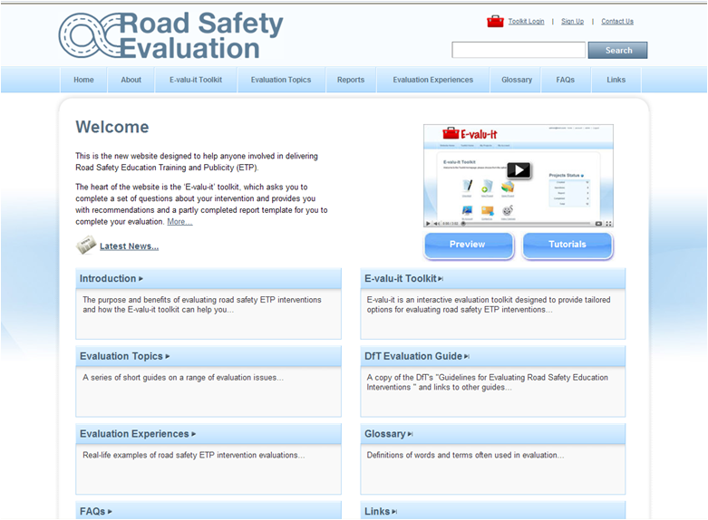 E-VALU-IT UPDATE Lindsey Simkins, Road Safety Research and