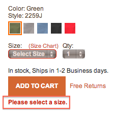 Secret #5: Unsuccessful Add to Cart Some products on timberland.com require selecting color, size, and quantity before proceeding into the purchase process.