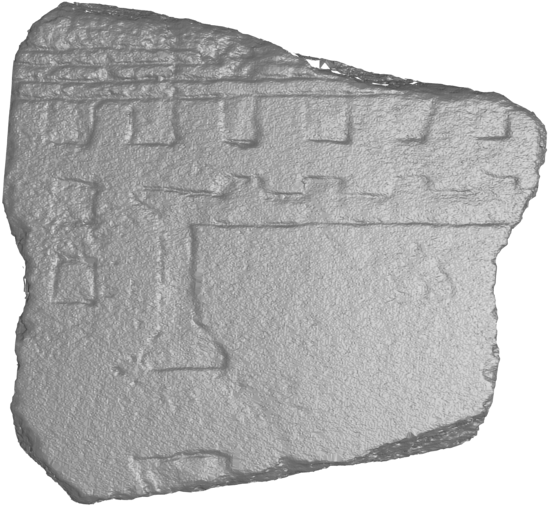 12 J. Digne & JM Morel & C. Mehdi-Souzani & C. Lartigue / Scale Space Meshing of Raw Data Point Sets Figure 12: Comparison on a piece of the Fragment Urbis Romae (FUR) (left: picture).