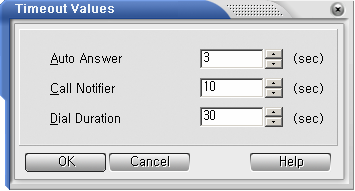 c. Time Out Parameters Click on the Options menu and choose the Set Environment Time Out option.