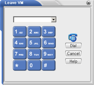 b. How Do You Leave Your Voice Mailbox? If you select Leave Voice Message option from the Call Control menu, you can leave a voice message to other stations. The above dialog box will appear.