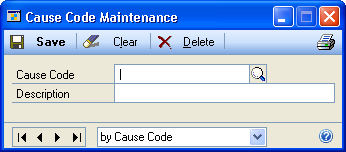 PART 1 SERVICE CALL MANAGEMENT SETUP 1. Open the Problem Code Maintenance window. Cards > Service Call Management > Problem Codes 2. Enter a problem code ID and description. 3. Click Save.