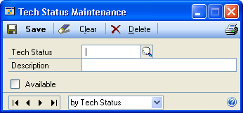 CHAPTER 2 SETUP IN SERVICE CALL MANAGEMENT Set up tech status codes You can set up an unlimited number of technician status codes to represent a technician s availability for service call assignment.