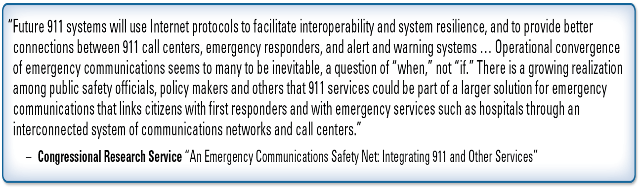 more widely adopted by emergency responders. As a result, the scenario provided in Exhibit 3 will likely begin to occur more frequently.