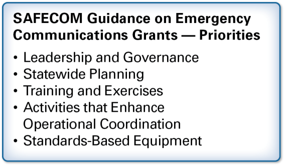 grant programs for emergency communications.