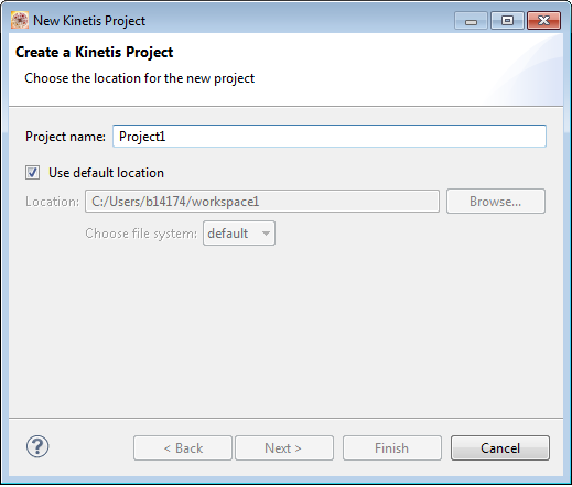 Creating a Kinetis project NOTE For information about launching the Workbench, refer to the topic Launching Workbench. 2. Select File > New > Kinetis Project, from the IDE menu bar.