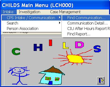 Objective: To find communications in CHILDS using a participant, source, communication number, and/or received date/time range. Communications are found in the Communication Directory (LCH001).