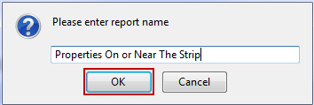 Saving a Report Saving a report allows you to regenerate the report at a later date. It also applies a more descriptive title to the report. To save the report: 1.