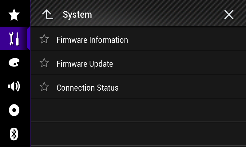 3. Scroll down the list. 4. Touch [System Information]. 5. Touch [Firmware Information]. 6.