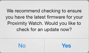 8) You will see a notification screen asking if you want to check for a firmware update.