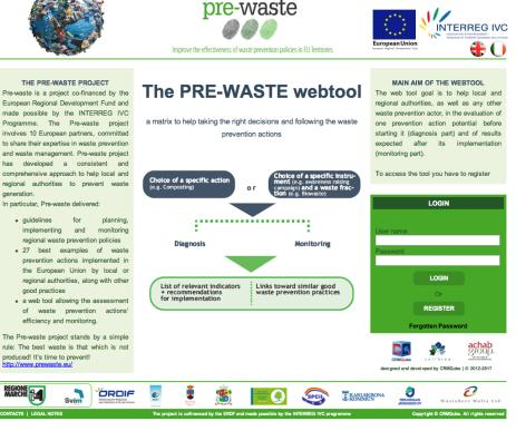 Indicatively Web-based tools WRAP household waste prevention toolkit Produced by WRAP To help the user to develop or update a waste prevention plan Mini Waste Produced by the Miniwaste LIFE+ project