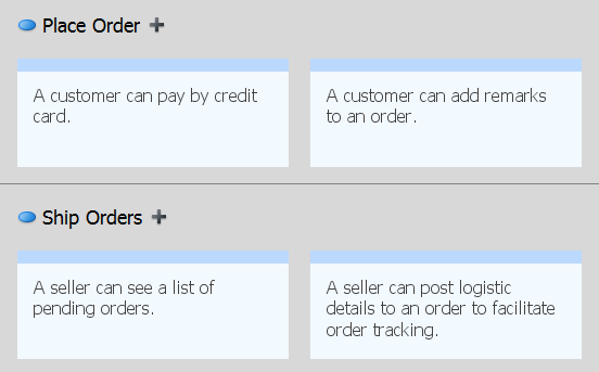 this: 6. Rename the use cases to make them more understandable. Rename them to Place Order and Ship Orders respectively.
