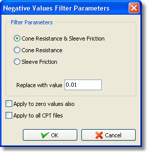 Advanced features 4.7.5 59 Negative Values Filter With this filter, negative raw data can be replaced with a custom value so that interpretation will not fail.