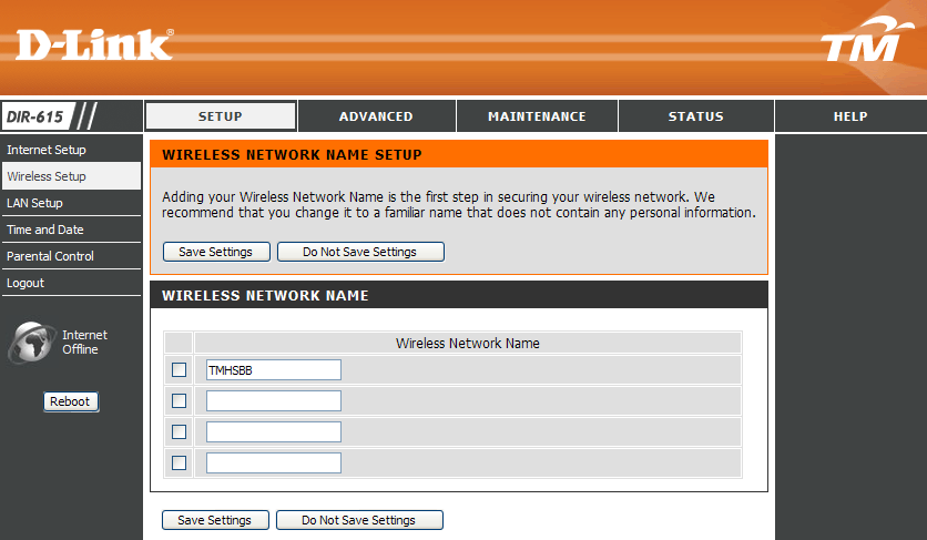 Section 3 - Configuration Click the Multiple Wireless Network Name Setup to add or select SSIDs.