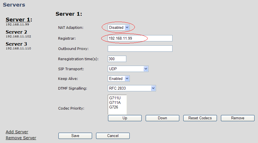 MULTI-CELL SETUP STEP 8 Scroll down and Click on Multi Cell URL link in the SME VoIP Configuration to view the current Multi cell settings status of the current base station.