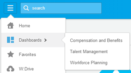 Manager FAQ s What will I find in the Dashboard section? Dashboards are pre-configured, landing pages related to specific functional areas within workday.