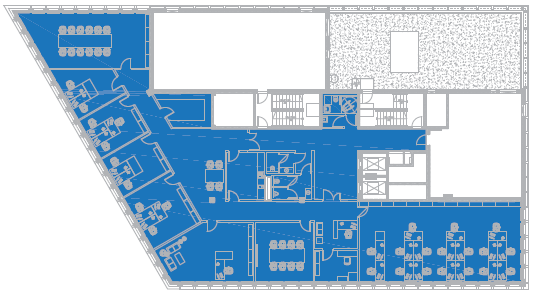 FLOOR 5 PLAN [1 TENANT] office space 534 m 2 31 work stations