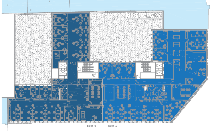 TYPICAL FLOOR PLAN [2 TENANTS] office space A 545 m