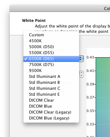 30 MULTIPROFILER - USER S GUIDE White Point adjustment wizard page The White Point page is available with the DICOM and Full presets, and Custom Picture Modes.