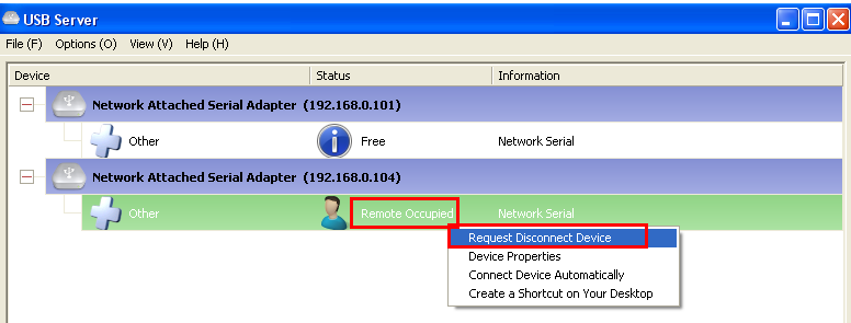 After setup all computers and IP-COM-M devices to static (fixed) IP address and to the same network segment, when you start up the IP-COM-M Manager Utility on all computers you will see all IP-COM-M