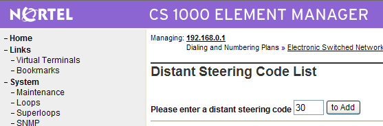 The Distant Steering Code List screen is displayed.