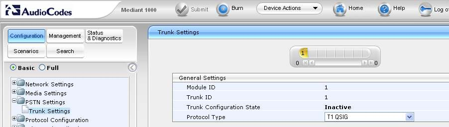 7.3 Configure PSTN Trunk Settings Expand the PSTN Settings menu and click on Trunk Settings.