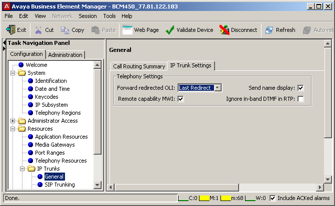 2.2.4 BCM SIP Trunking In the Global Settings tab: - Local Domain - Enter the local domain of the SIP