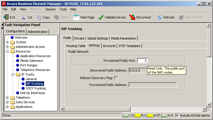 In the SIP Trunking > Public > Routing Table tab, click the Add button to add a public route. Enter the required information in the Add Route dialog box: - Name The name for the route.