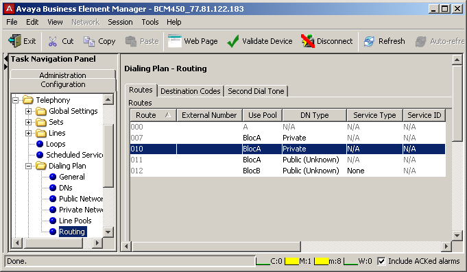 BCM Monitor can be used to monitor the system status and activity. BCM Monitor can be accessed from Business Element Manager, Administration > Utilities. 2.