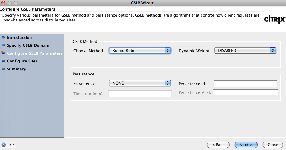 To start configuring GSLB, navigate to GSLB and click the GSLB wizard.