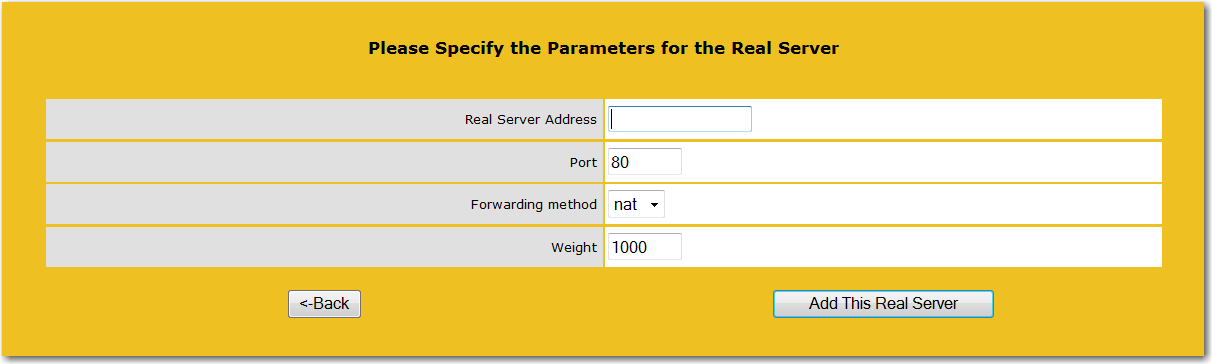 18. For each CAS, input its IP as the Real Server Address on Port 80. Click Add This Real Server. 19. Click OK in response to the confirmation that the Real Server was added. 20.