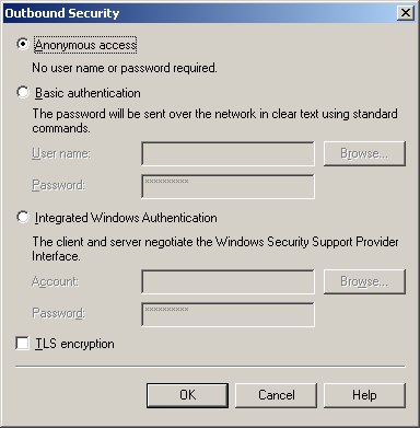 Chapter 6 SMTP Integration b) Click Outbound Security. c) Check the TLS encryption box. d) Click OK.