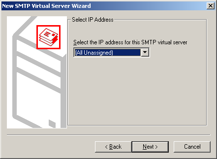 Chapter 6 SMTP Integration b) In the left frame of the Manager, right-click the host node and select New SMTP Virtual Server.