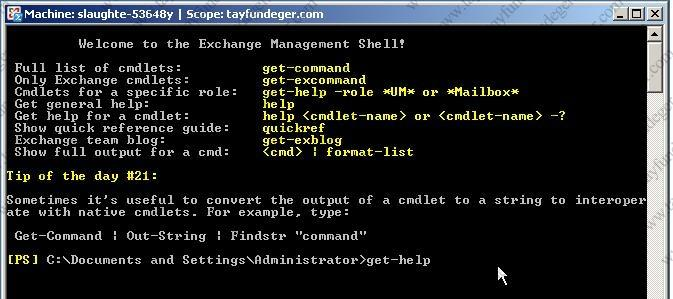 The Exchange Management Console The Exchange Management Shell (EMS) With Exchange 2007 a line was drawn in the sand that required x64 hardware running 64-bit versions of Server.