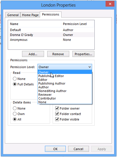 Public Folder Permissions In legacy versions of Exchange one of the benefits to the way public folders were designed is that you could provide for availability and faster access to them by creating