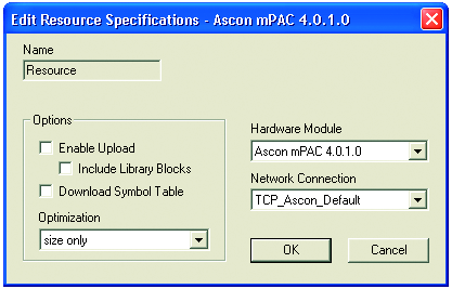 OpenPCS environment is now ready to communicate with the Ascon target. The project must be set up in order to use the CPU.