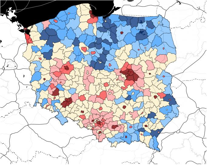LARGE CATCHMENT AREA TALENT POOL MULTIPLIED In opposite to Southern and Central Poland, Northern part of the country is concentrated around one economic hub.