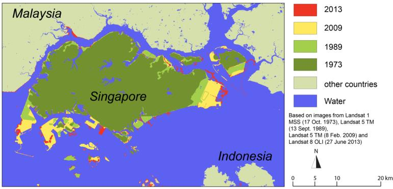 Box 2: Singapore Singapore is developing rapidly and its population has increased by a factor of three since 1960, from 1.63 million to 4.84 million inhabitants in 2010.