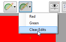 Editing Threshold Maps Threshold maps can be edited manually. Additional areas can be drawn onto the threshold map or undesired areas can be erased from the threshold map.