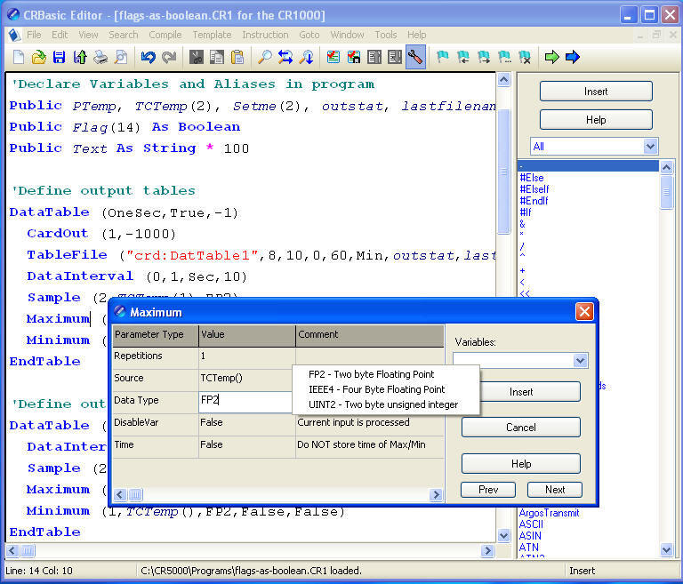 Programming Full-featured Programming Tools LoggerNet offers two full-featured programming tools the CRBasic Editor and Edlog.