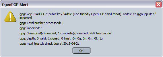 Adele's public key is