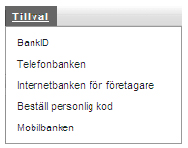 Visit the online bank what to do To access the online bank, you need to identify yourself using your security token, BankID on card, BankID in mobile or a personal code. 1 Go to swedbank.se. Click on Logga in ( Log in ) in the top right-hand corner.