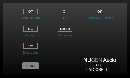 4 Options. Clicking the options button opens up the options panel, containing several additional parameters governing the operation of LM-Correct.