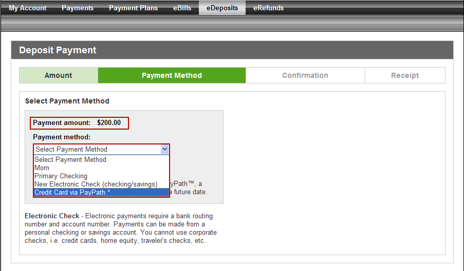 Your payment receipt will be displayed. If you ve provided your e-mail address, you will receive a confirmation e-mail.