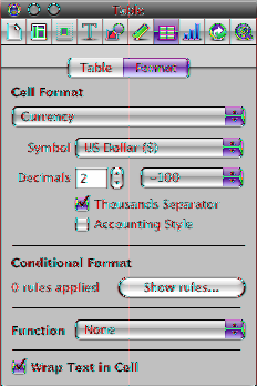 mm Use the Table inspector to access table-specific controls, such as fields for precisely controlling column width and row height, add headers and a footer, format borders, and more.