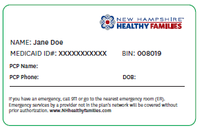 Your Member ID card When you enroll in New Hampshire Healthy Families, you will receive a New Hampshire Healthy Families Member ID Card within 10 calendar days of enrollment.