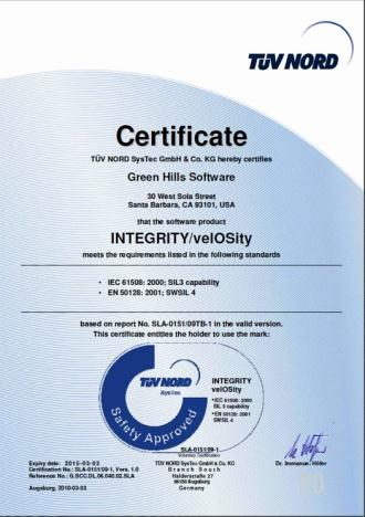 Proof by independent certification Certifying Authority Level Achieved Applicability Industry FAA DO-178B Level A Reliability, Safety Avionics EASA