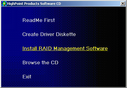 RocketRAID 3220 Driver and Software Installation 5. Click on the Please Select the Diskette you want to create drop-down button, and select the appropriate OS from the list. 6.